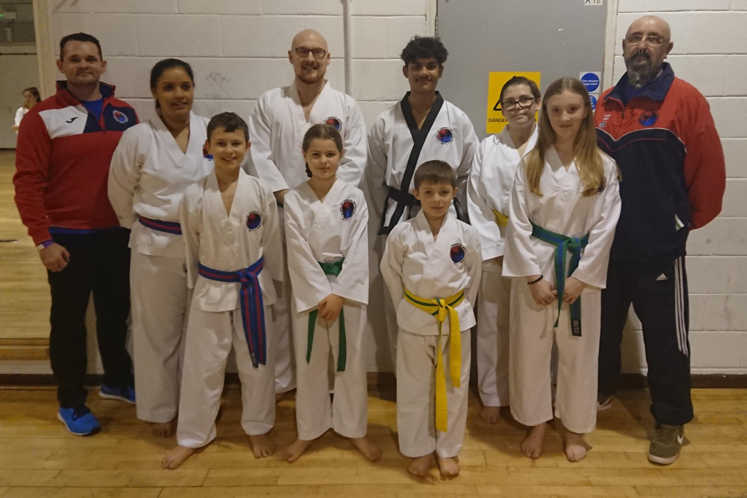 L-R: John Newman (Instructor), Christine O'Bey, Harry Chase, Richard Lane, Jasmine Roux-Nel, Cody O'Bey, Oscar Cronin, Lee Barnard, Imogen Lane, Frank Wall (Coach).