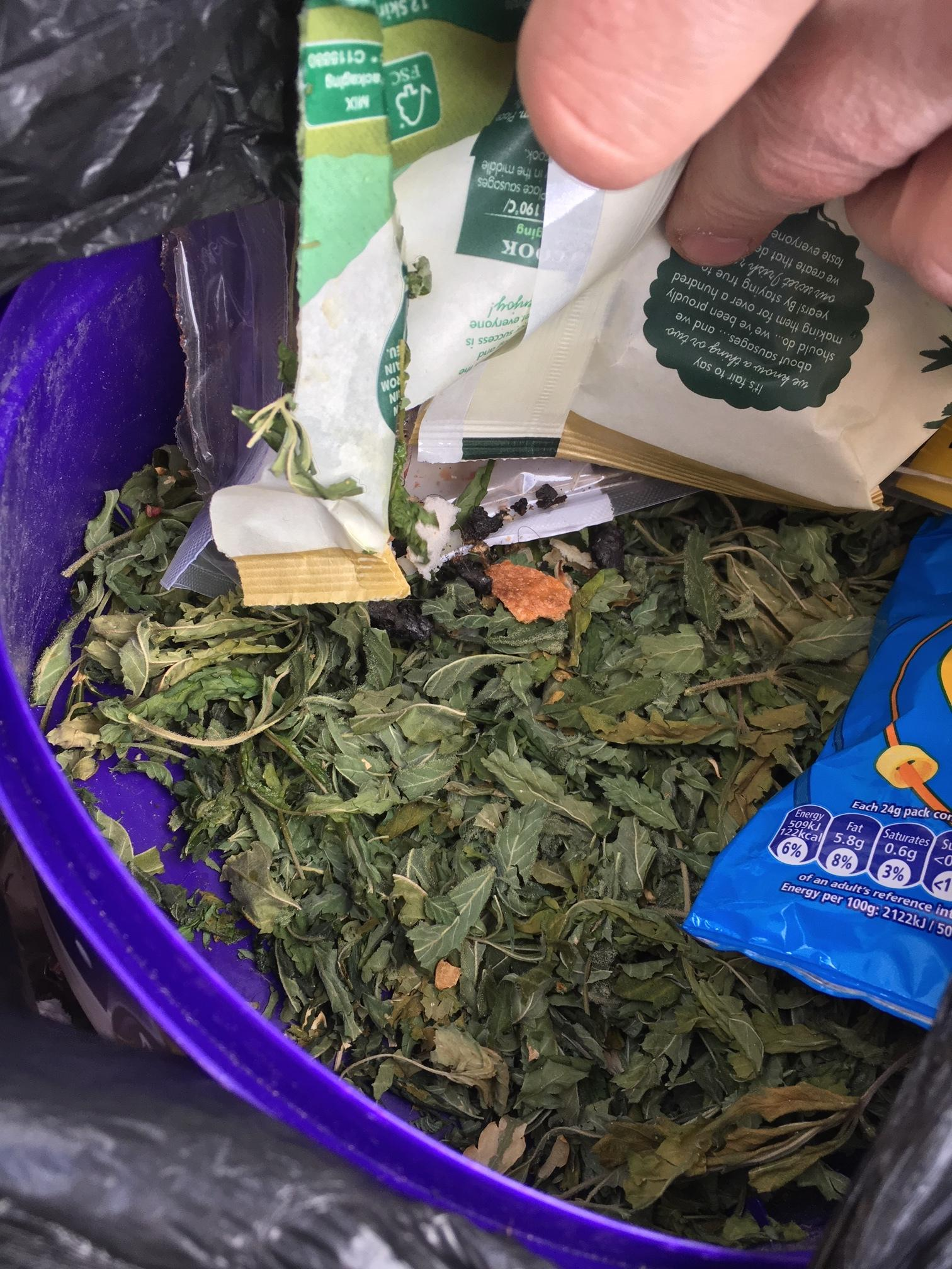 Leaves that looked and smelled like cannabis were found dumped in a bin liner on Prospect Hill