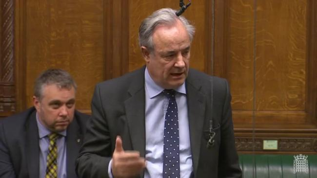 North Wiltshire MP James Gray speaking in the House of Commons in 2017