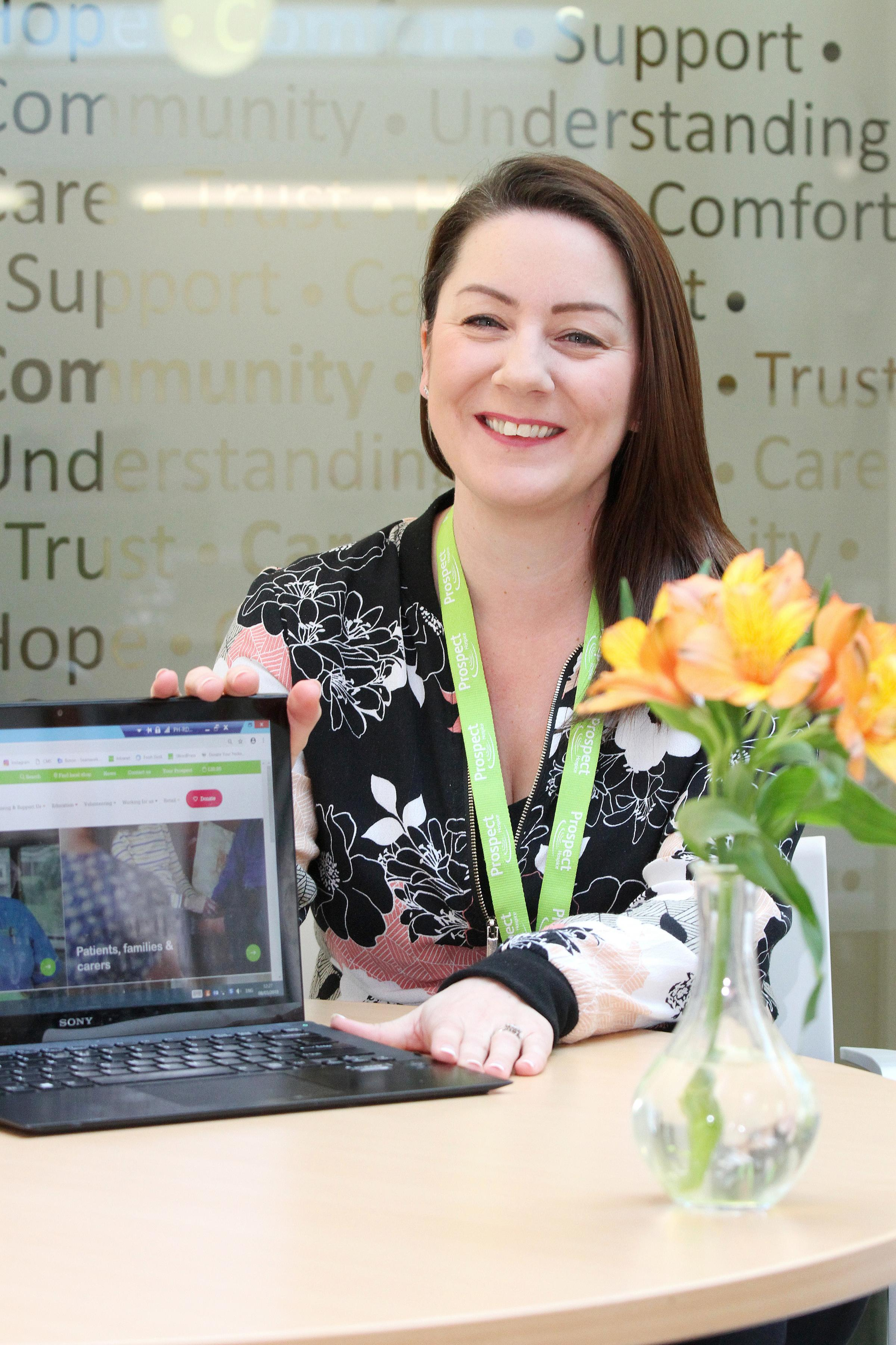 Digital marketing guru Michelle Jones from Prospect Hospice