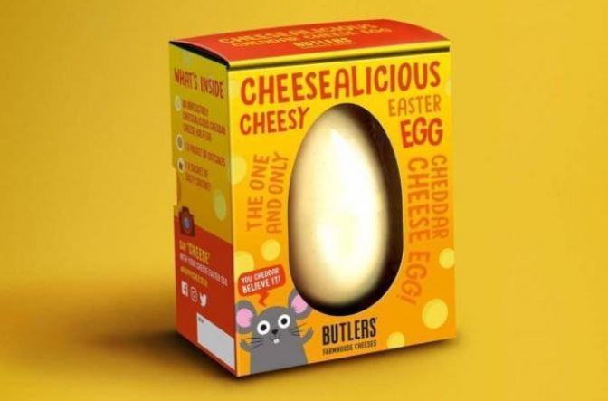 The Sainsbury's cheese Easter egg