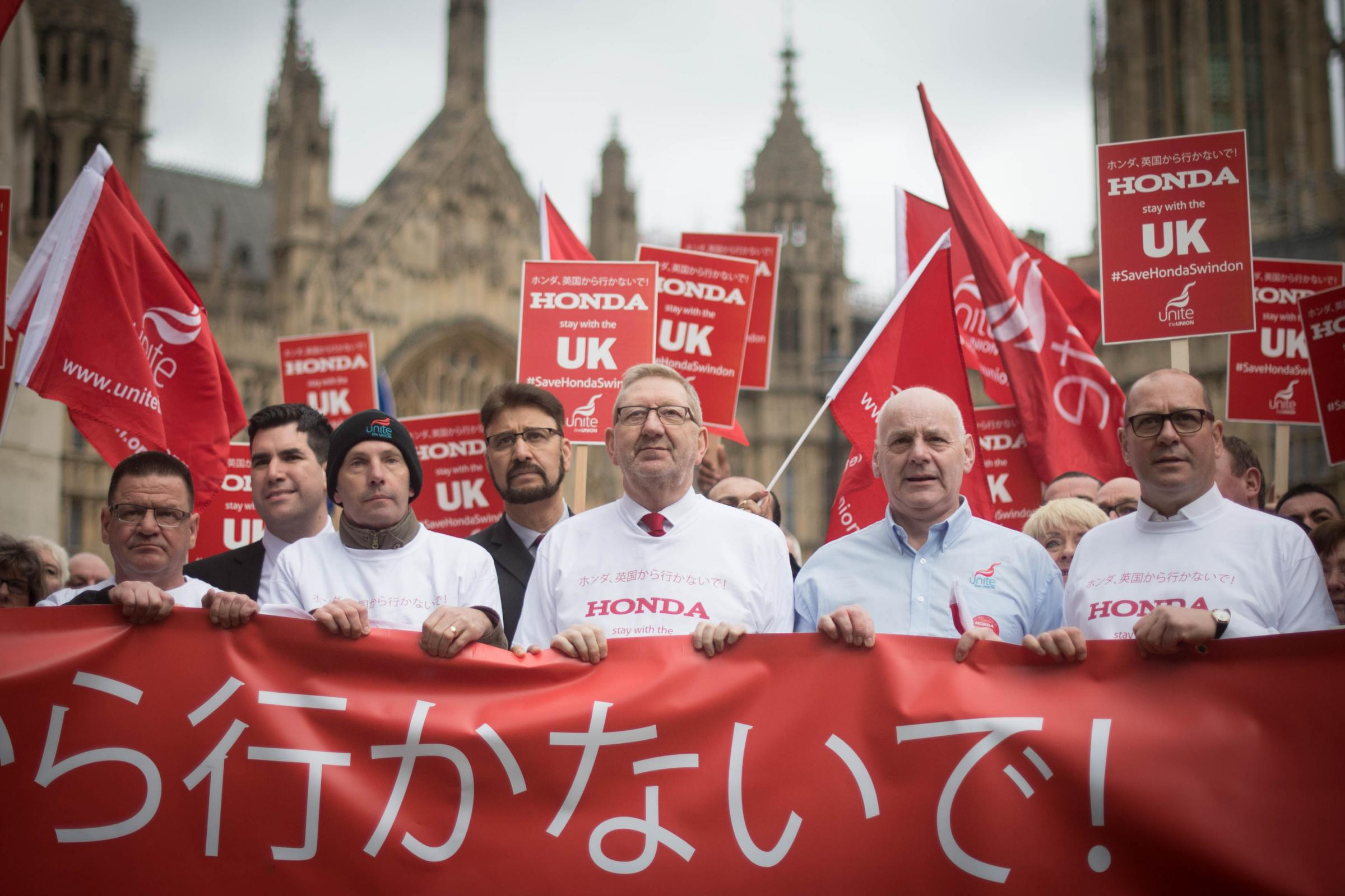 Picture: Len McCluskey at the Unite Honda protest in London. Picture: Stefan Rousseau/PA Wire