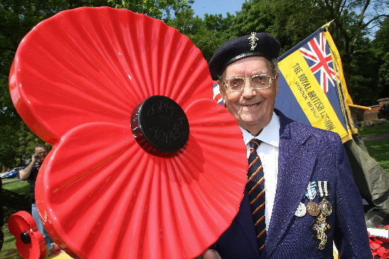 Royal British Legion member Malcolm Clements