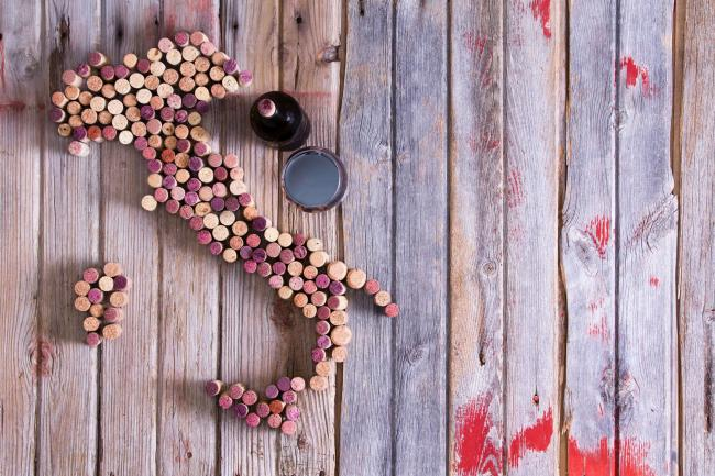 A generic photo of wine corks in shape of Italy. See PA Feature DRINK Italy. Picture credit should read: PA Photo/iStock. WARNING: This picture must only be used to accompany PA Feature DRINK Italy.