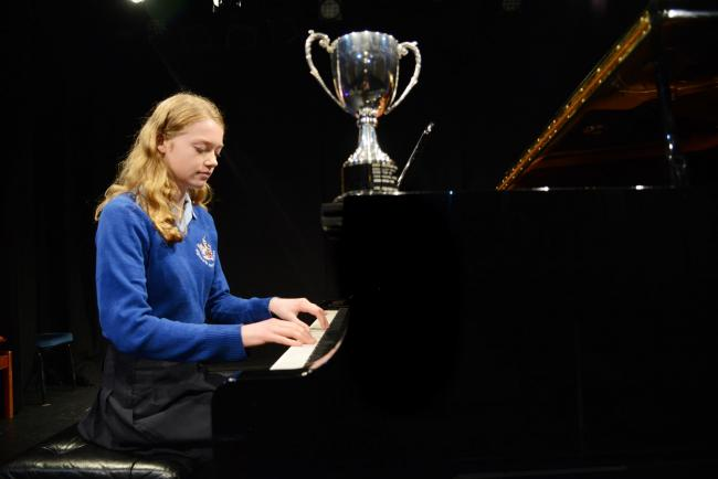 Swindon Music Festival - Piano Solo Grades 3 and 4. Pictured Martha Berry Winner. 21/03/18 Thomas  Kelsey