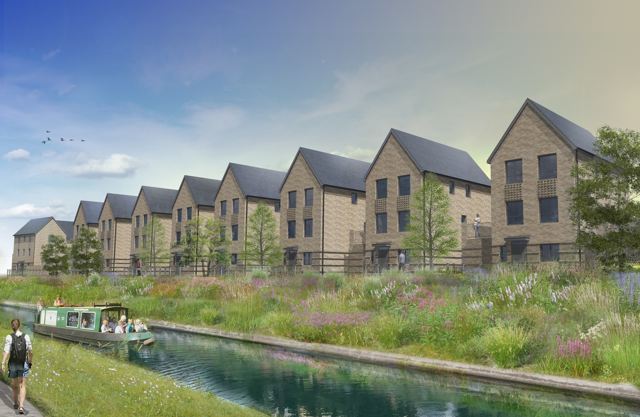 An idea of the Canalside development once completed