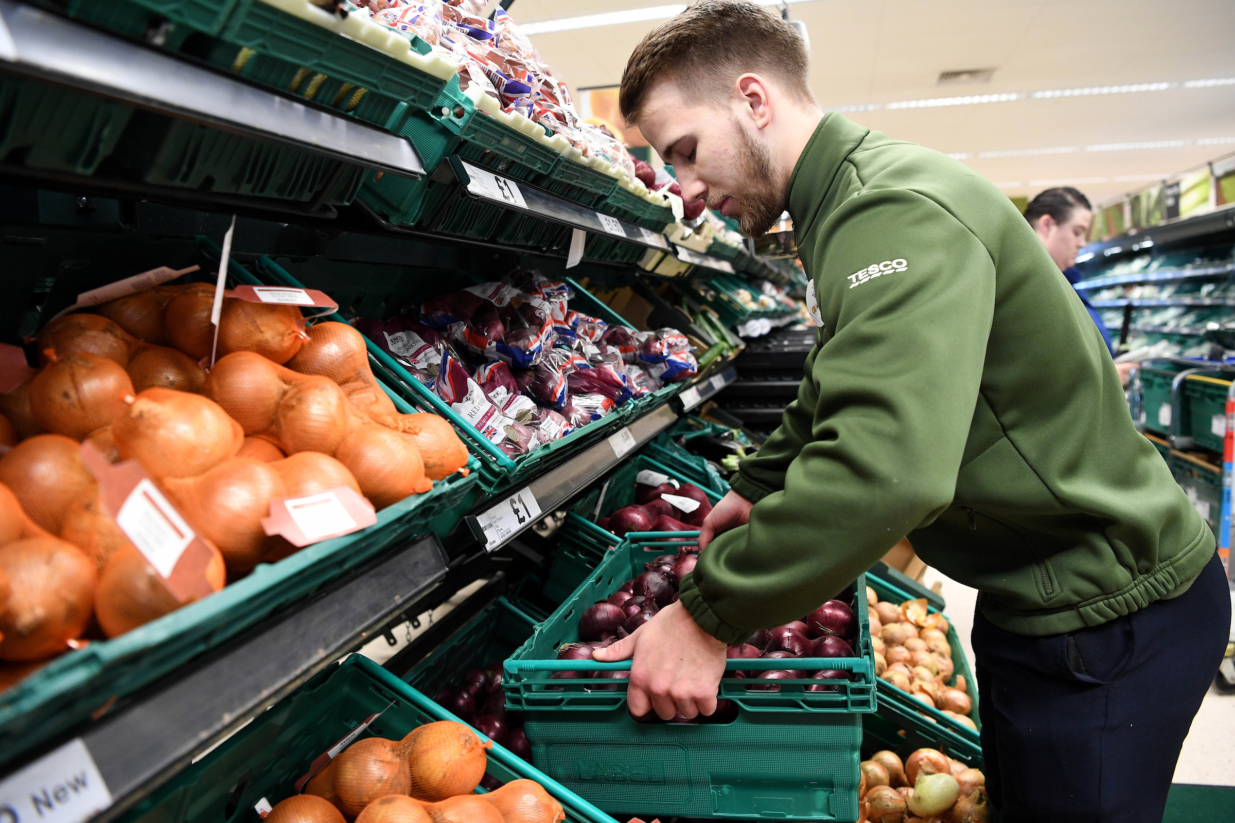 Tesco Extra on Ocotal Way is removing plastic packaging from fruit and veg for a month Photo: Andrew Parsons/Parsons Media