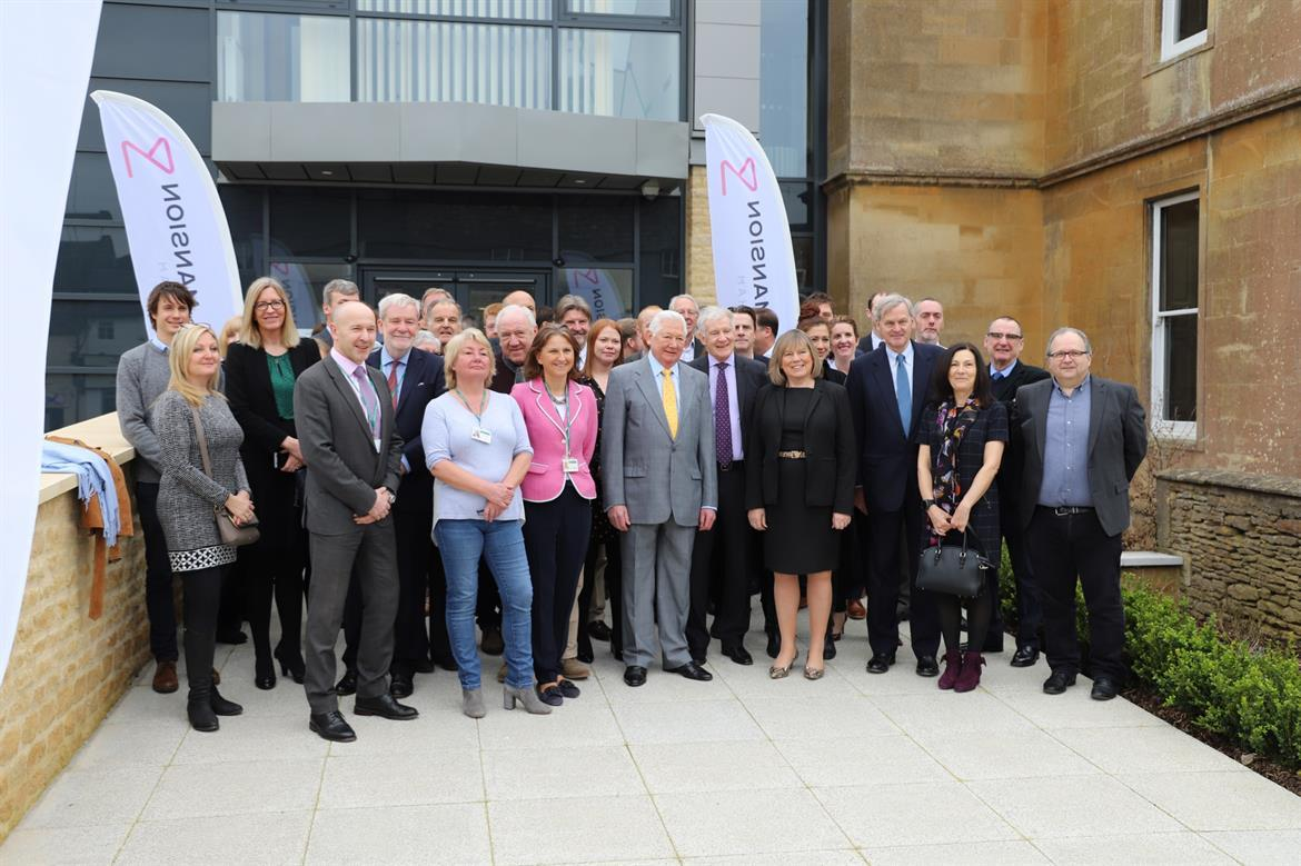 The Corsham Digital Mansion pictured at its grand opening yesterday.