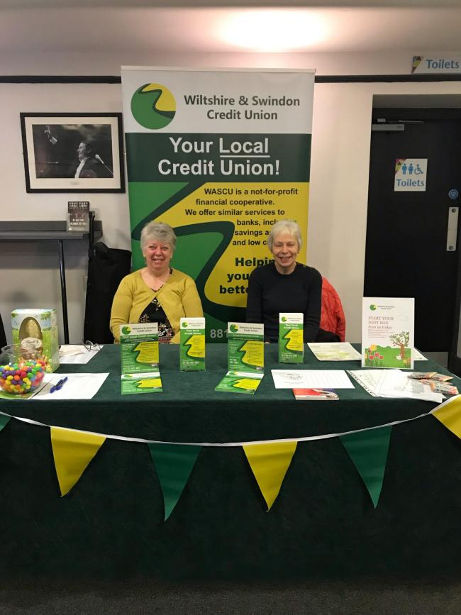 Trish Sinclair and Carmen Barrett from the Swindon and Wiltshire Credit Union