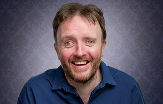 Comedian Chris McCausland plays a Speaky Blinder in Swindon
