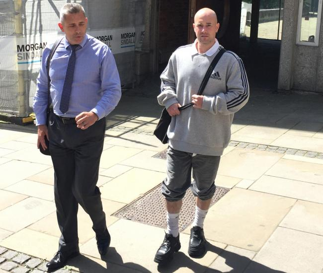 Neil Sutherland, right, has gone on trial for the murder