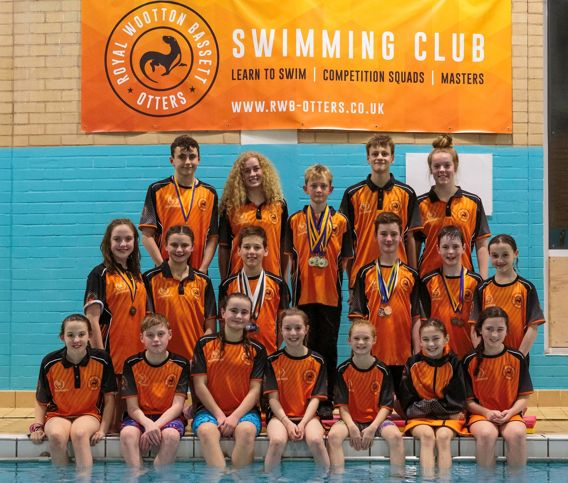 The Royal Wootton Bassett Otters Swimming Club members who competed at the recent County Youth Championships