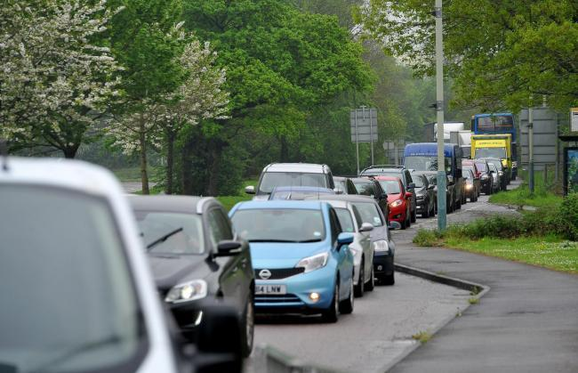 Slow traffic on Swindon  roads