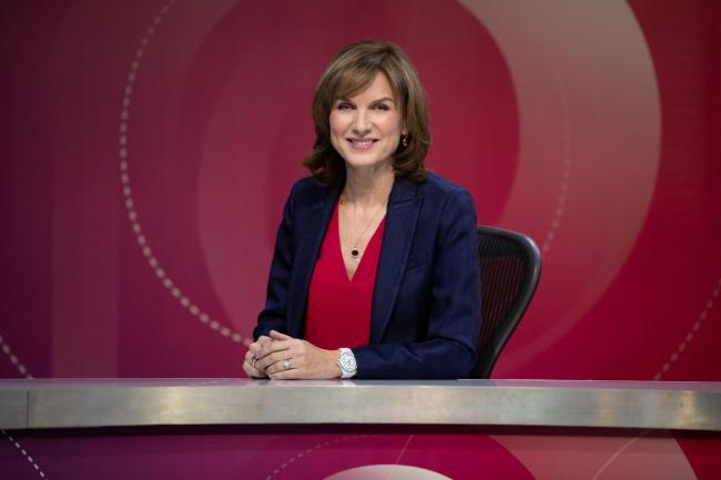 Fiona Bruce on Question Time