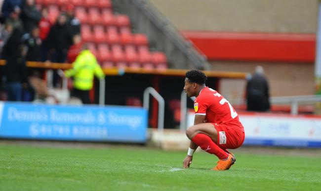 STFC v Yeovil           Pic Dave Evans      6/4/2019.Ali Koiki cuts a dejected figure at the final whistle..
