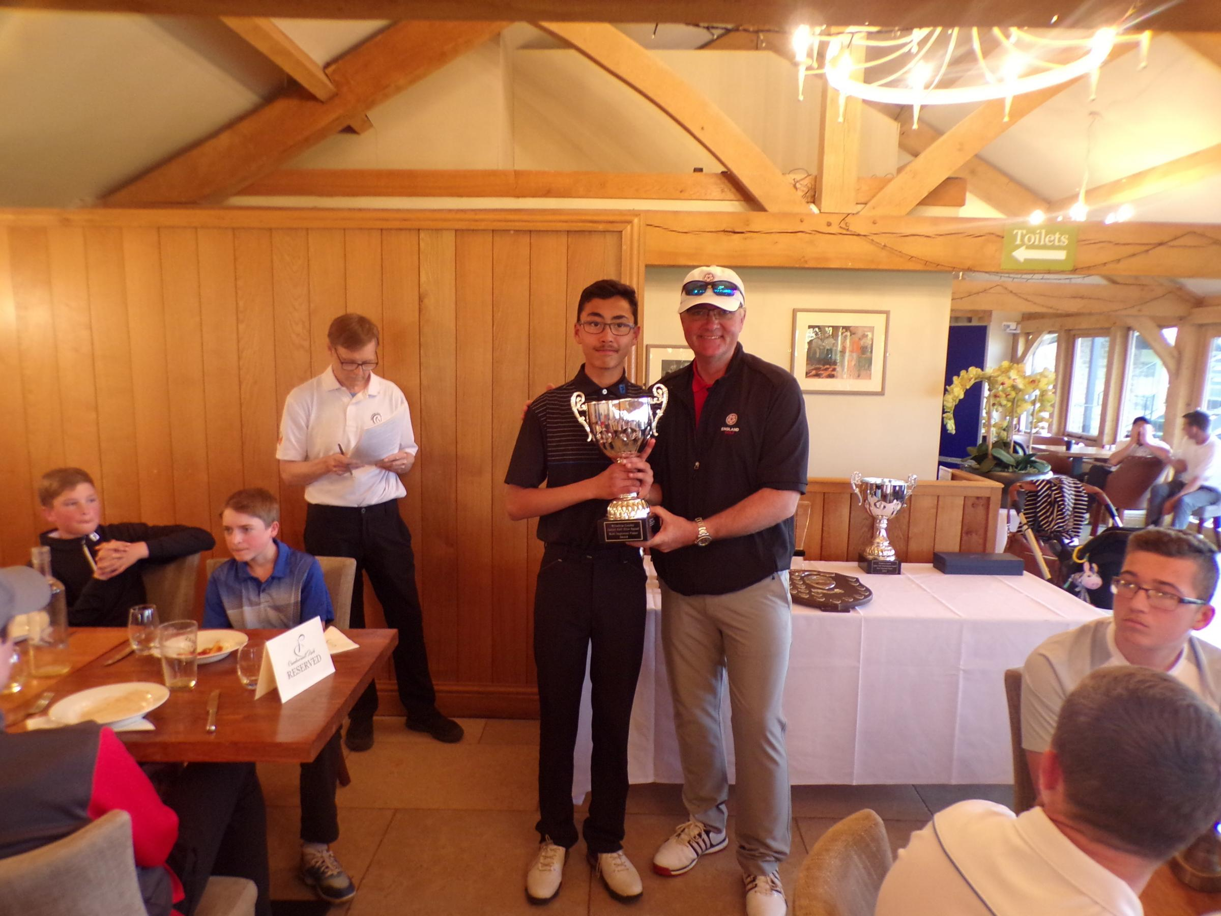 Callum Bygrave was the most improved player in the Wiltshire Junior Golf elite squad