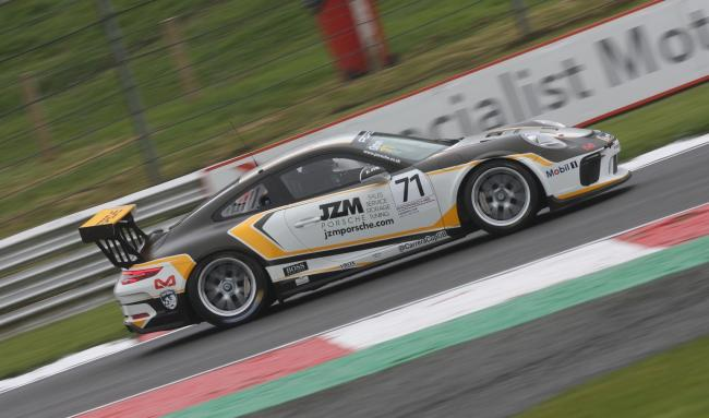 Jamie Orton in action at Brands Hatch at the weekend in the Porsche Carrera Cup Championship              Picture: TIM CRISP