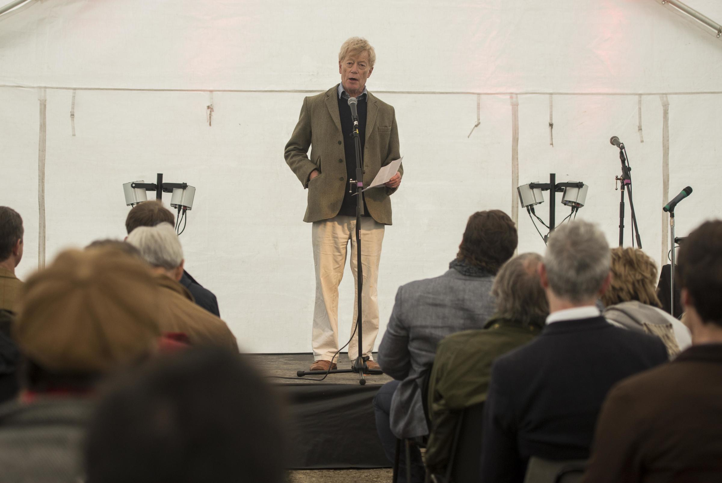 Apple Day and Litrature Festival at Sunday Hill Farm, Brinkworth.Pictured Sir Roger Scruton.22/10/2016.Pictures Clare Green/ www.claregreenphotography.com.
