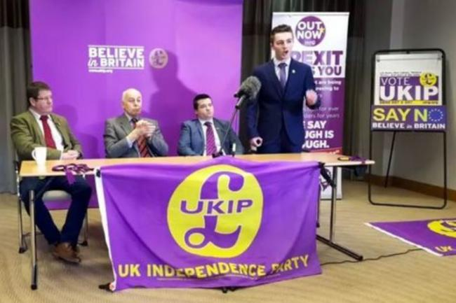 Members of Swindon's UKIP branch