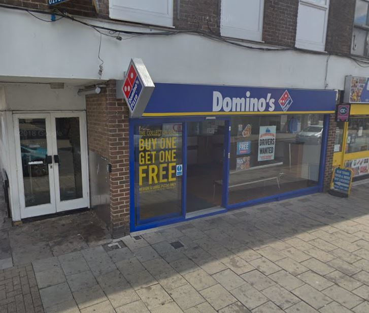 Domino's pizza in the High Street