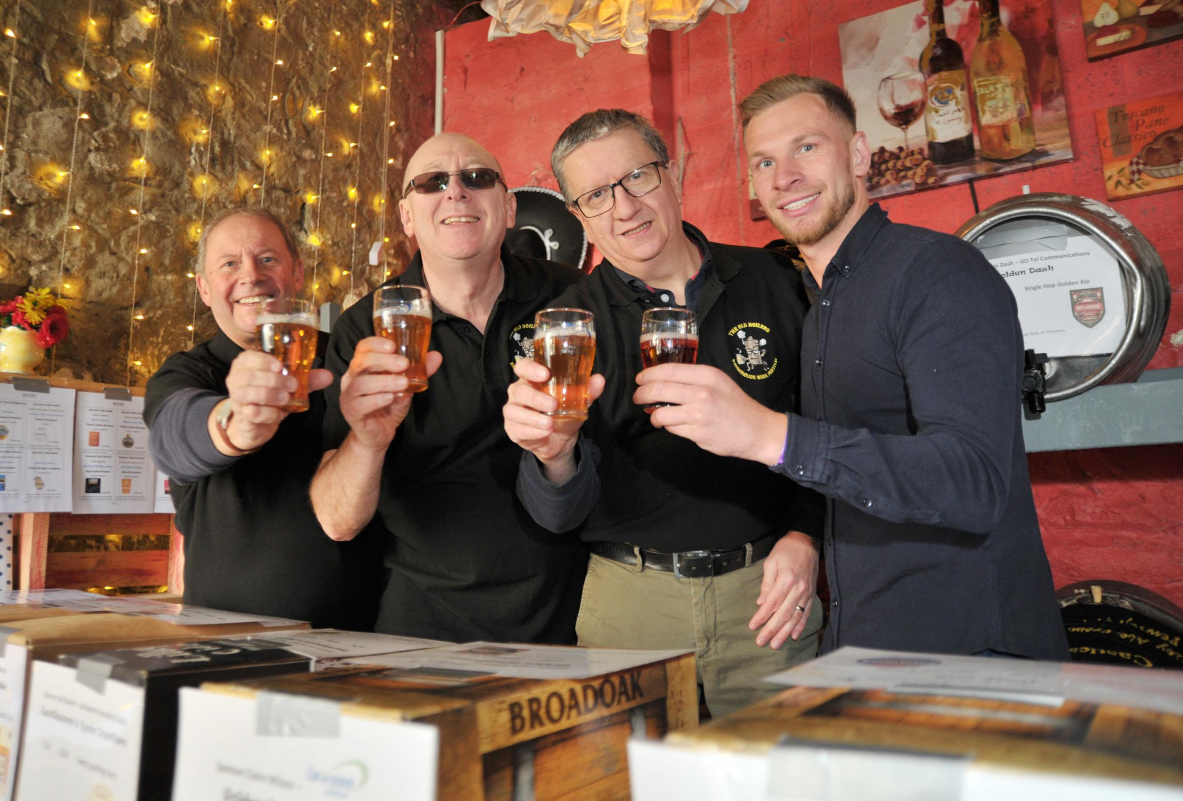Punters pack into New Calley Arms to have a tipple or two at beer festival