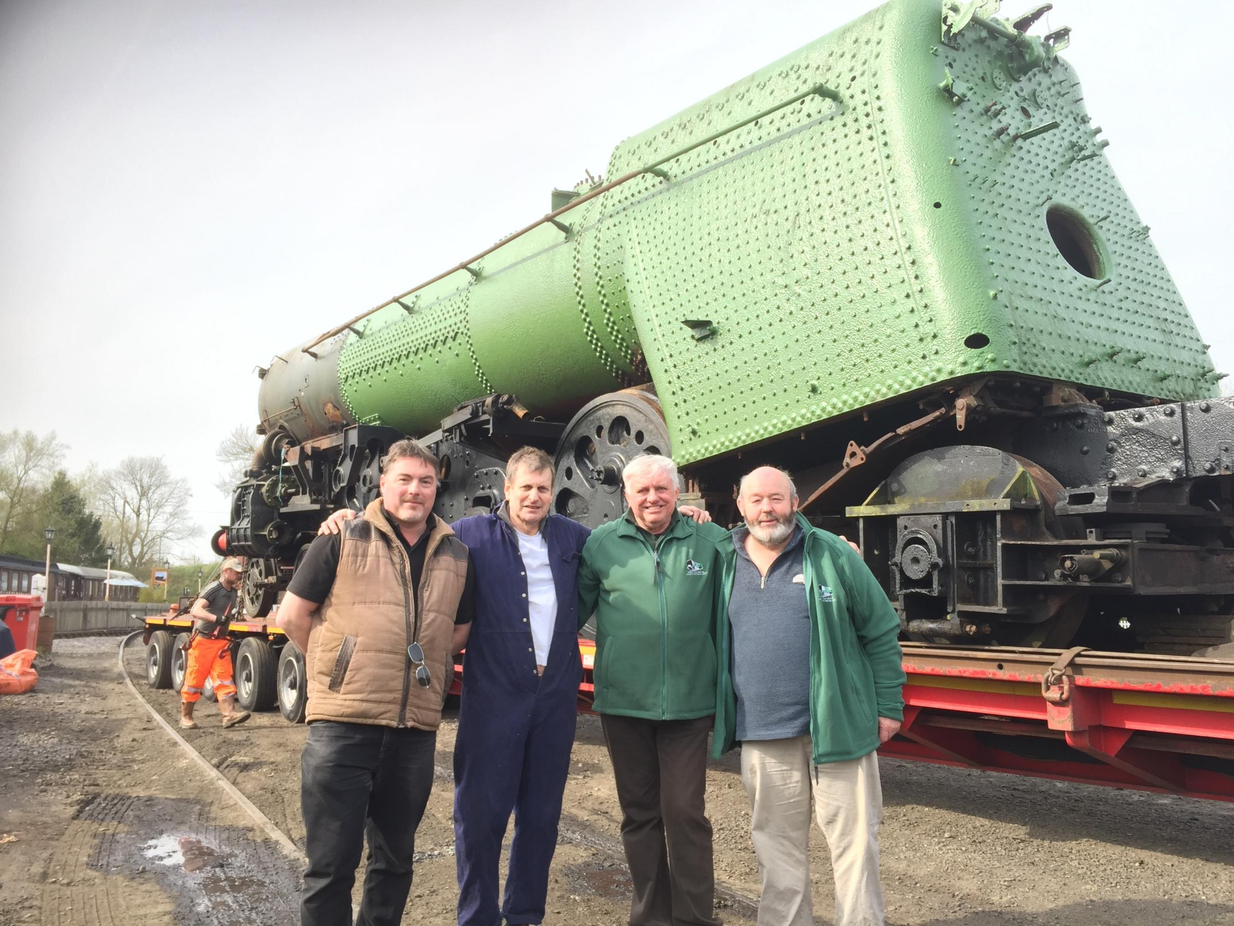 Massive locomotive moves to Swindon and Cricklade Railway for major restoration project