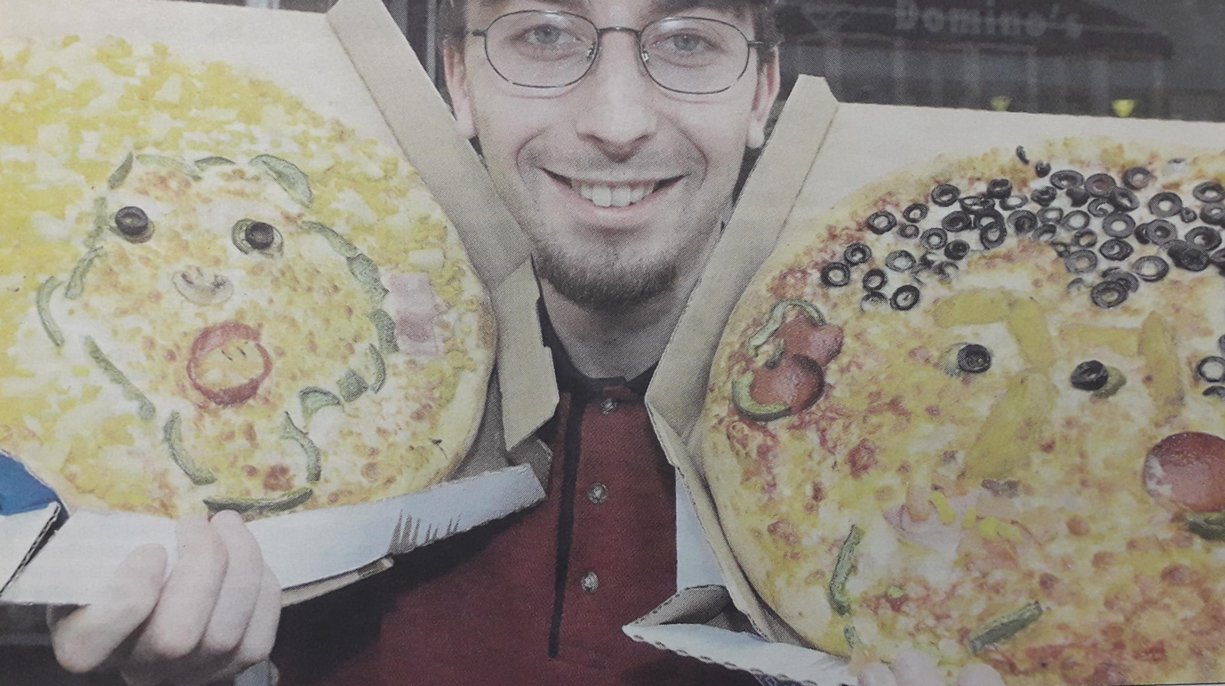 Faces in pizza and other art forms
