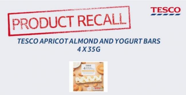 Tesco has recalled these bars over salmonella fears