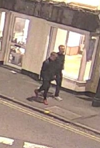 The two men police would like to speak with in connection to the attack