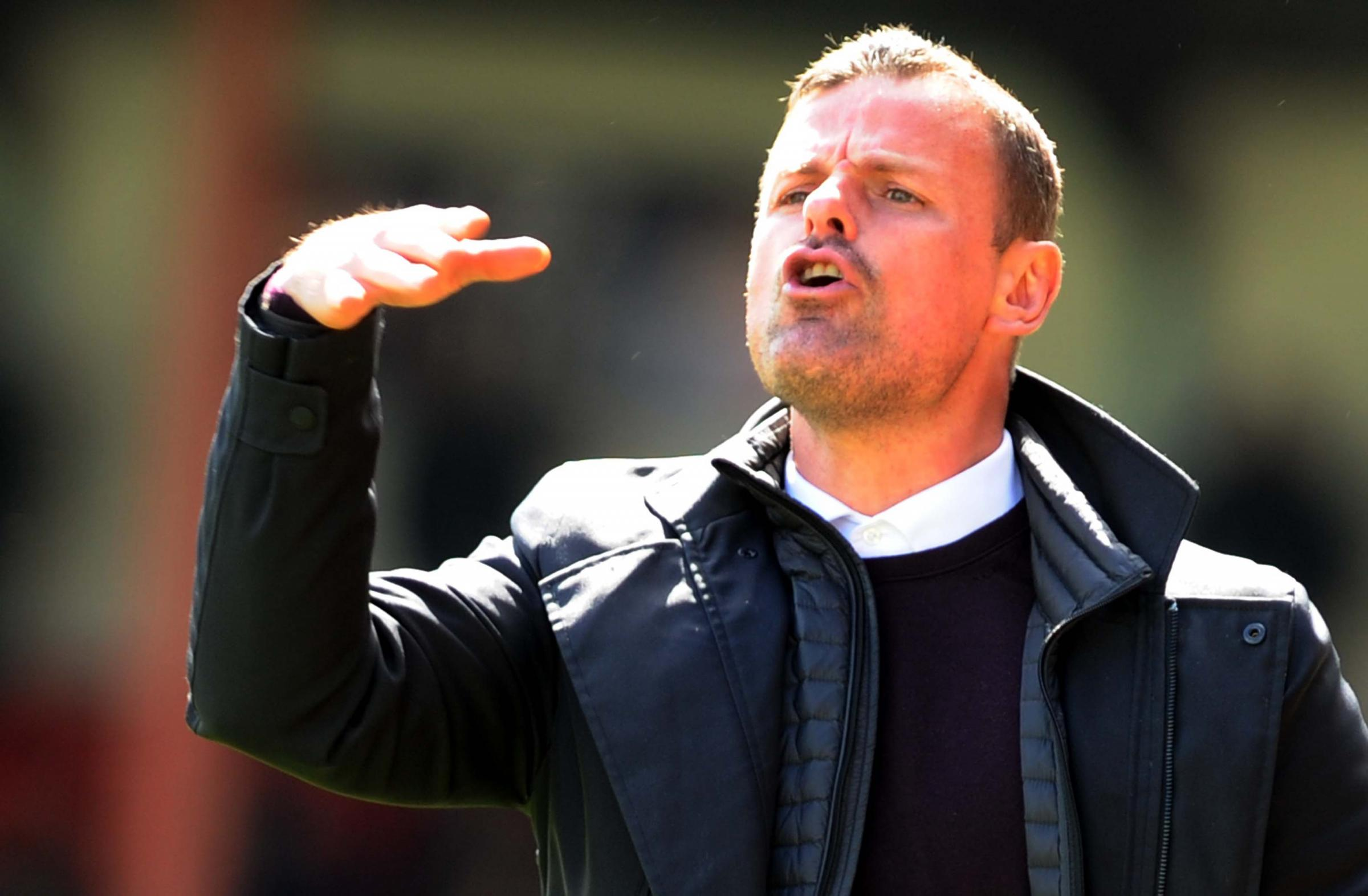 Richie Wellens on the touchline against Notts County. PICTURE: DAVE EVANS