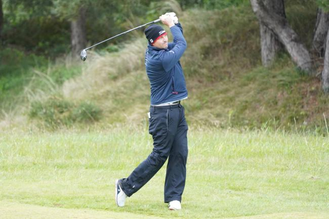 David Howell in action at Wednesday's Pro-Am at the British Masters PICTURE: ANDY CROOK