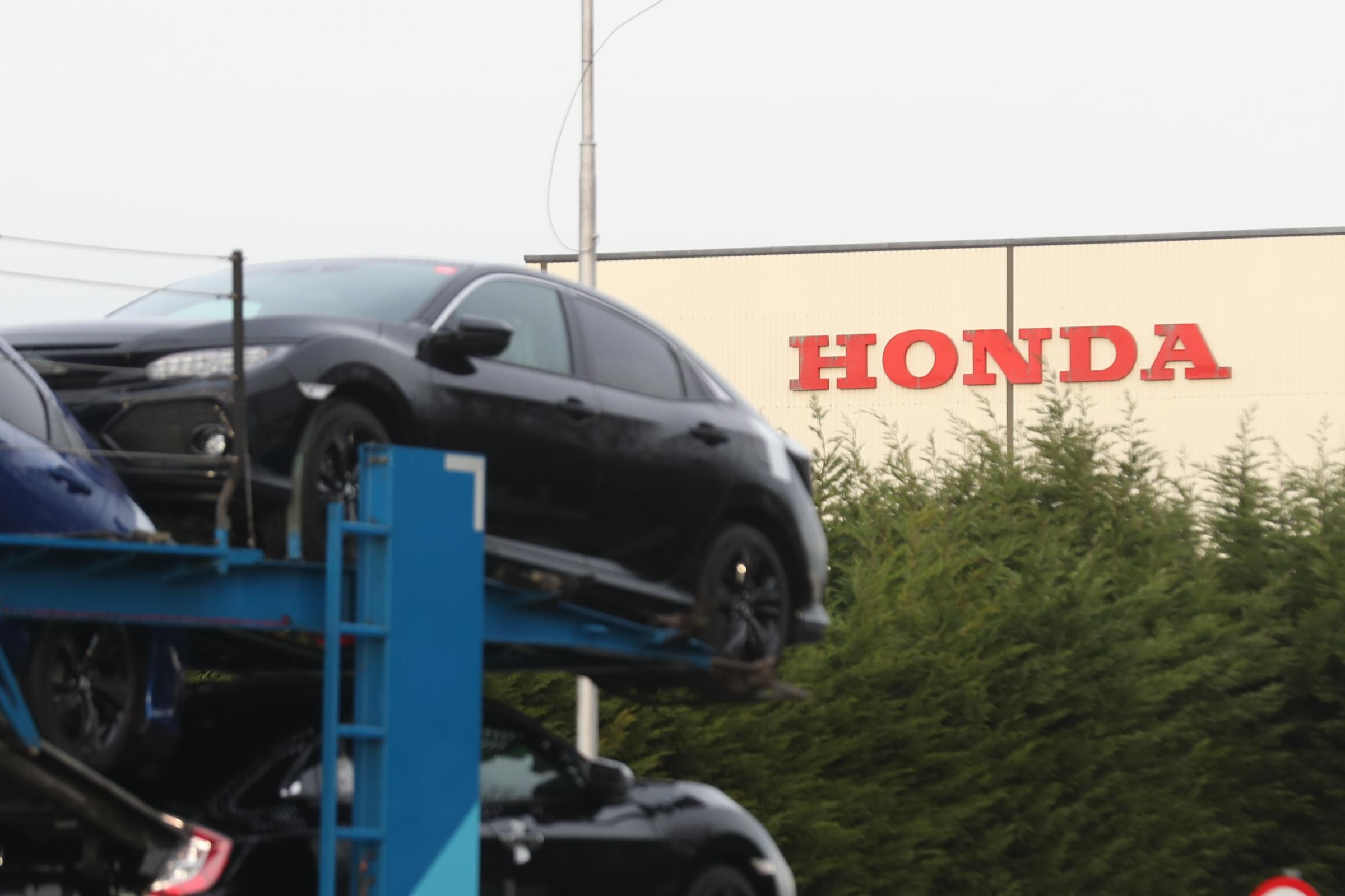 A car transporter at the Honda plant in Swindon, which the company is planning to close with the loss of more than 3,000 jobs. PRESS ASSOCIATION Photo. Picture date: Monday February 18, 2019. Honda was the first major Japanese car company to get involved
