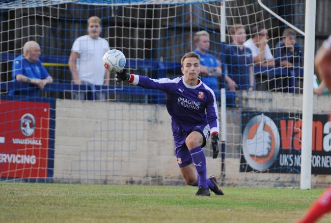 Chippenham v STFC        Pic Dave Evans     17.7.18.Will Henry in the Swindon goal..