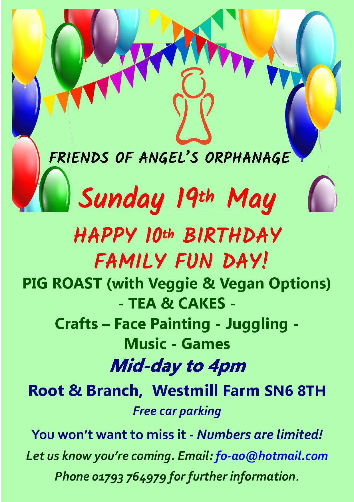 Celebrating 10 years for Friends of Angel's Orphanage