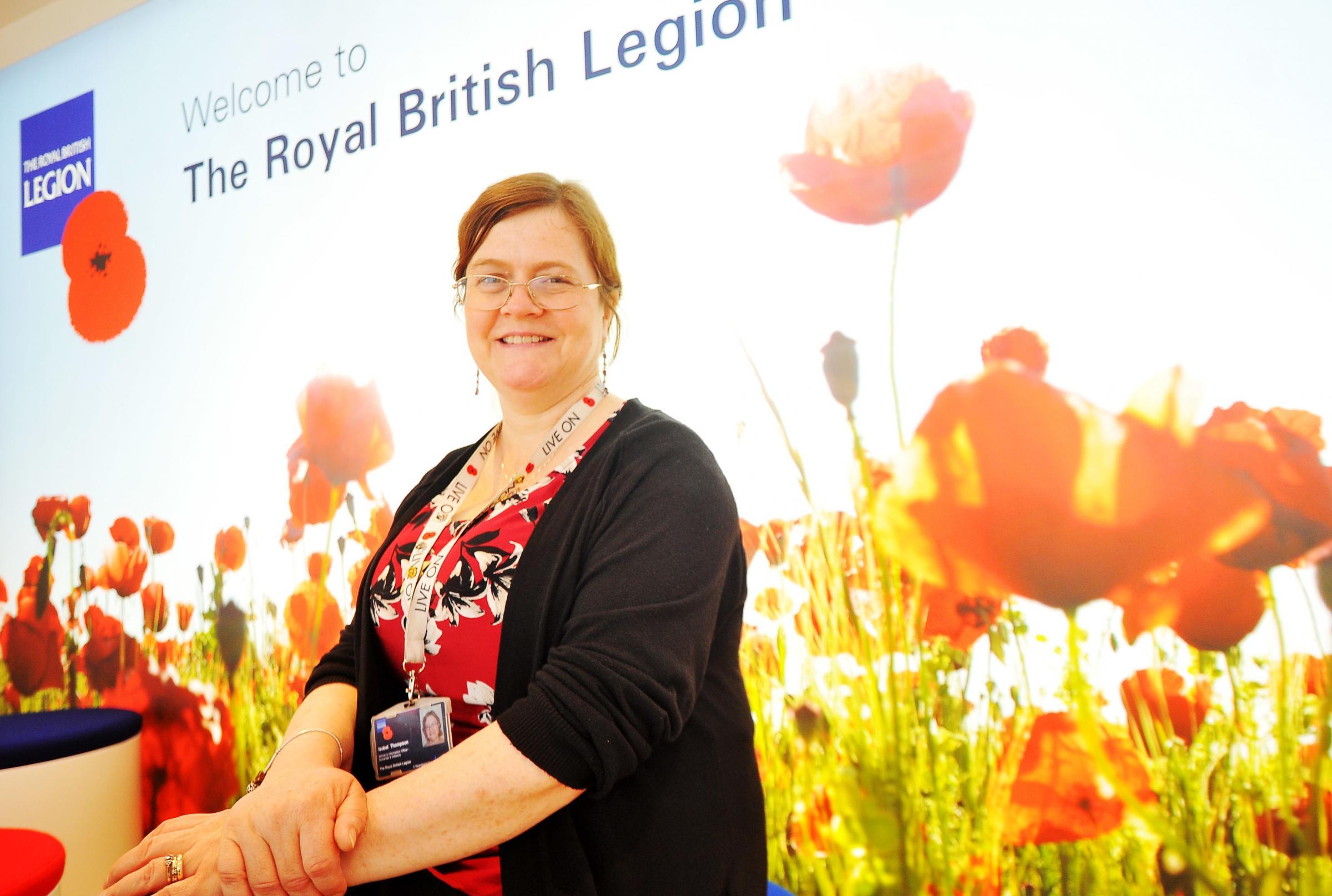Display at Swindon Royal British Legion for D-Day landings anniversary