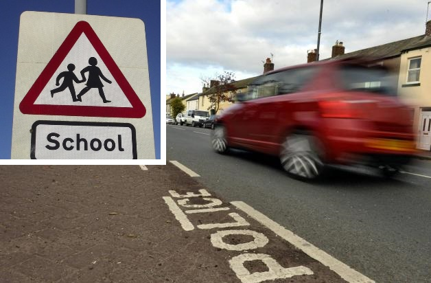 Where are the worst spots in Swindon for children to walk to school?