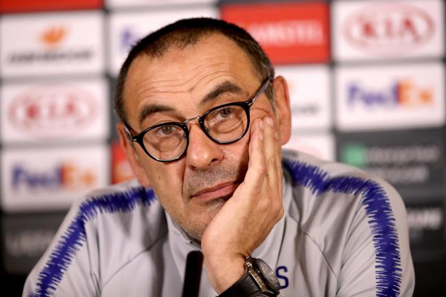 Maurizio Sarri has led Chelsea to third place in the Premier League and the Europa League final in his first season as manager