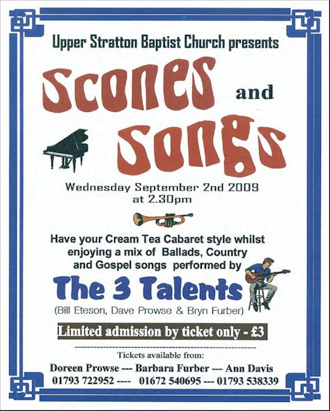Scones and Songs concert at USBC