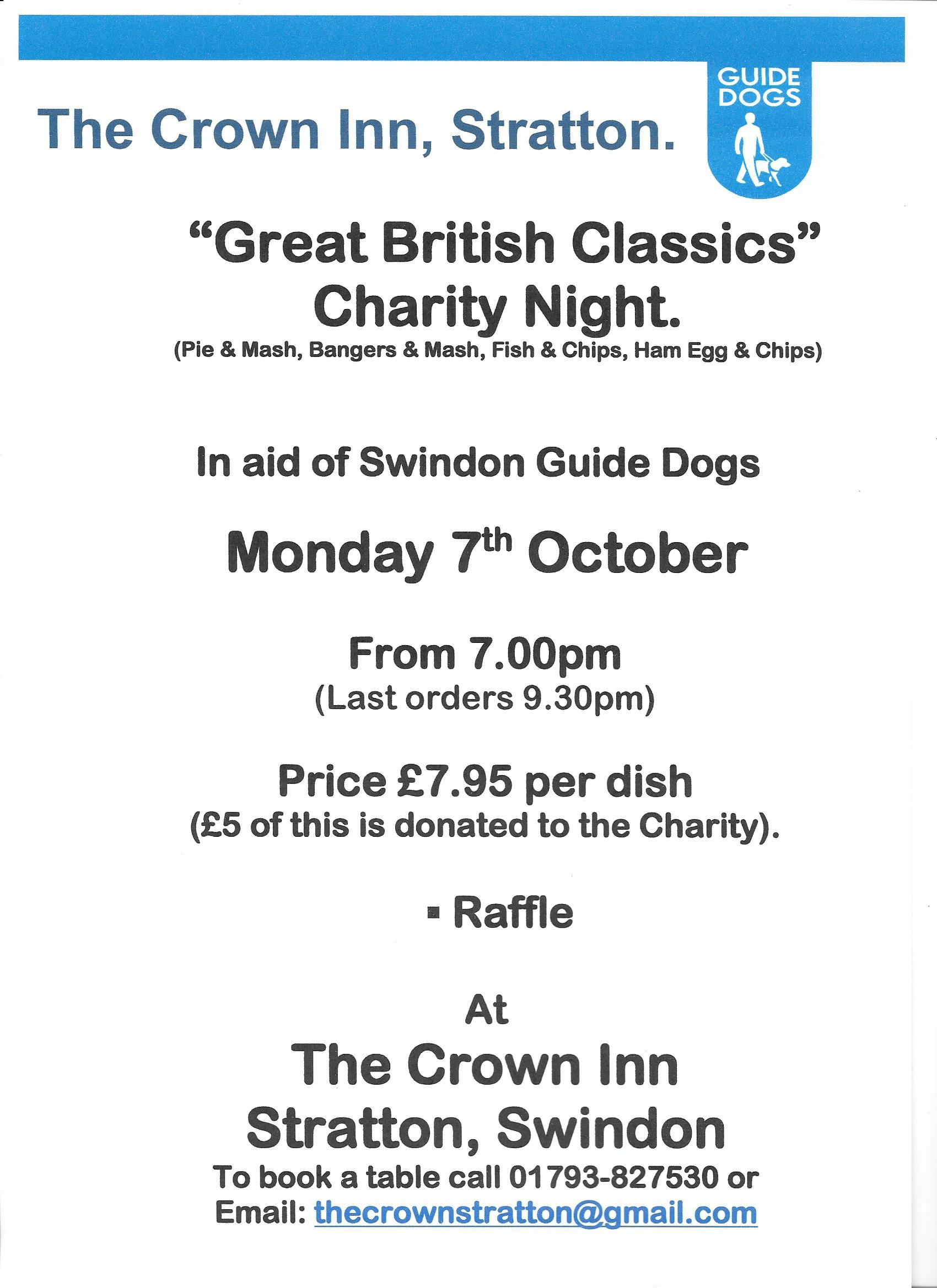 Great British Classics Charity Night.
