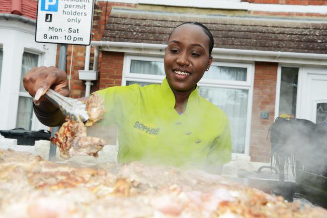Broadgreen Food Festival. Pictured Phiffrany Smith making Jamaican Orange Chicken. 15/06/18 Thomas Kelsey