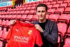 Adam May has signed a season-long loan deal at Swindon Town from Portsmouth. PICTURE: SWINDON TOWN FC