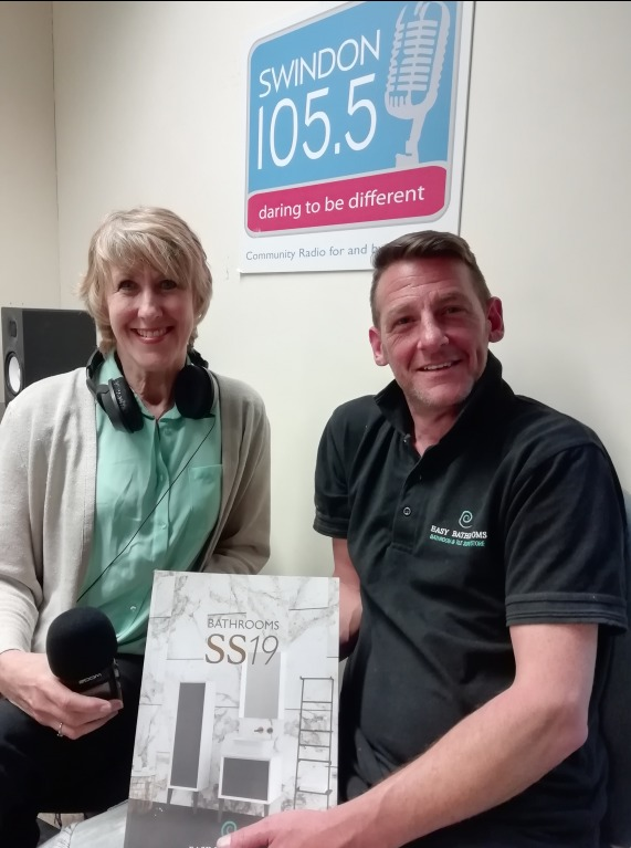 Easy Bathrooms showroom shares part of profits with Swindon 105.5