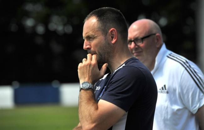 Swindon Supermarine boss Lee Spalding during the friendly with Hashtag United on Saturday. Picture: DAVE COX