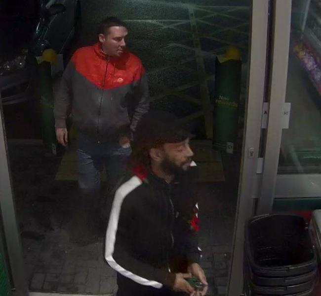 Two men wanted in connection with a champagne theft from a Swindon BP garage Picture: SWINDON SOUTH POLICE / FACEBOOK