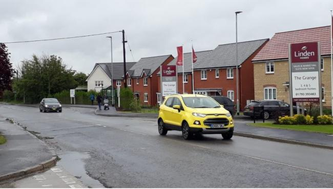 Swindon Road in Wroughton is busy and can be difficult to cross