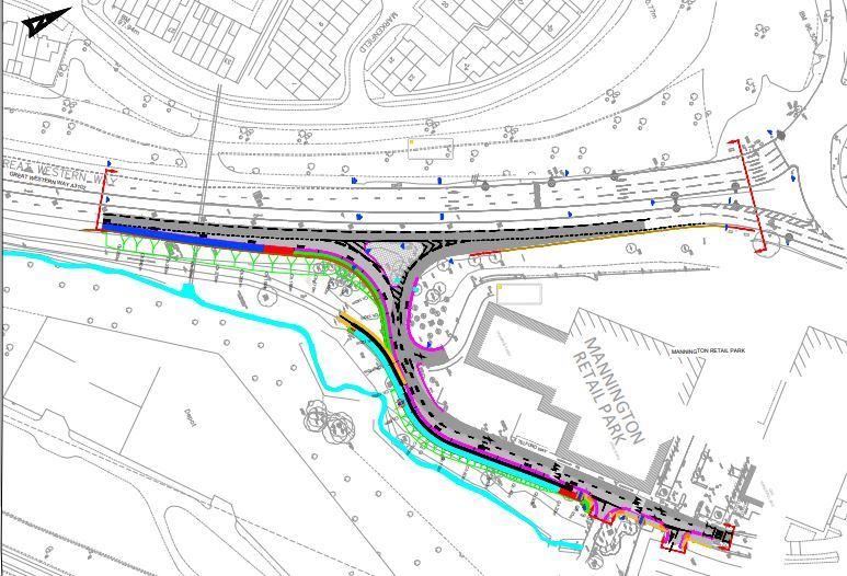 Work on new Mannington exit slip starts next week