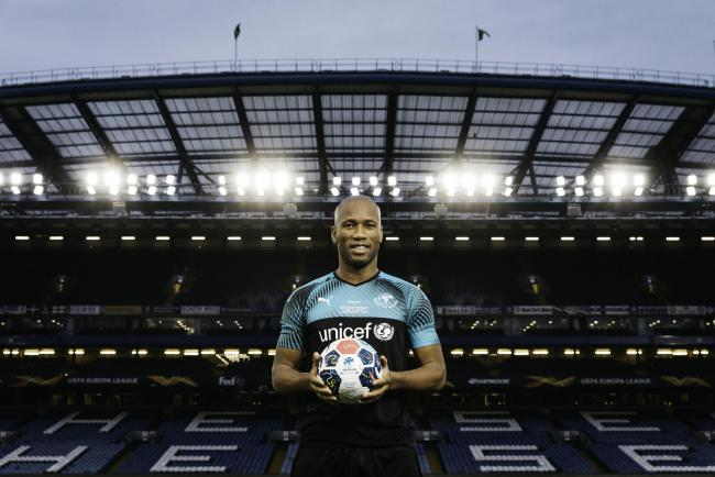 From Unicef..Soccer Aid For Unicef 2019 on ITV..Pictured: Didier Drogba...This photograph is (C) Unicef/Tom Dymond and can only be reproduced for editorial purposes directly in connection with the programme or event mentioned above, or ITV plc. Once made